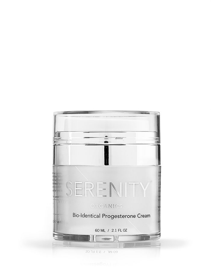 SERENITY PROGESTERONE CREAMS AIRLESS COMPRESSION JAR GMO-FREE